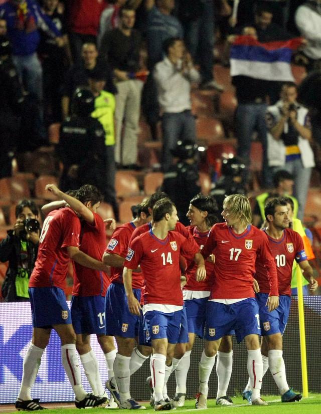 Detalj sa utakmice Srbija - Rumunija