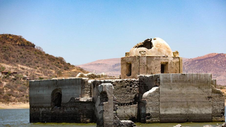 Pozostałości świątyni w w pobliżu meksykańskiego Guanajuato