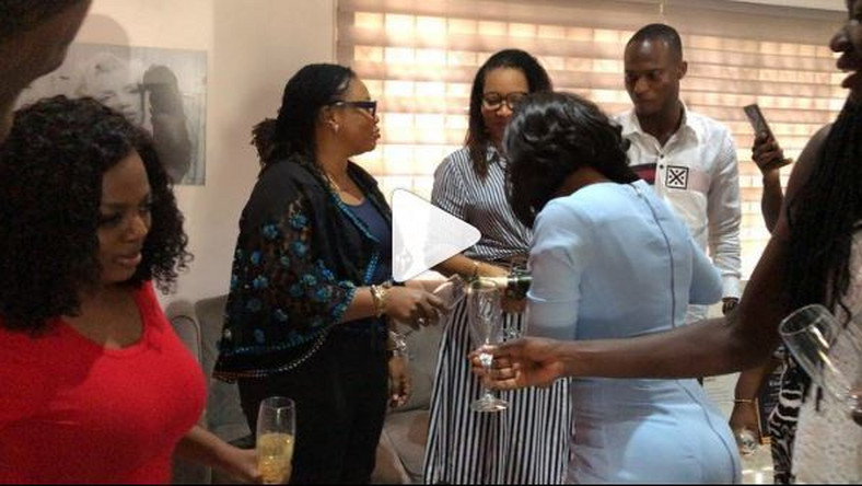 Nana Aba Anamoah parties at home with Charlotte Osei, Sandra Ankobiah and others
