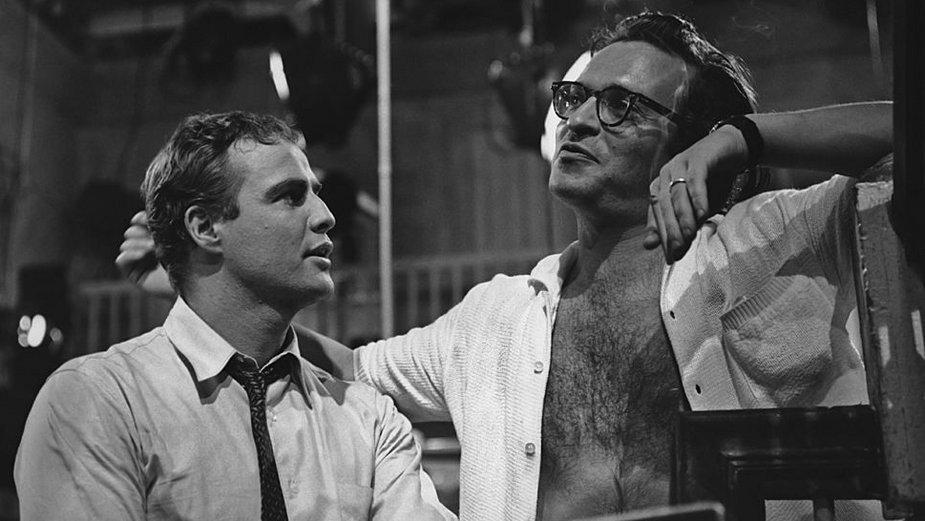 """Marlon Brando i Sidney Lumet na planie """"Jak ptaki bez gniazd"""""""