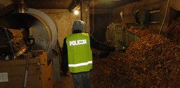 Osiem i pół tony nielegalnego tytoniu w gospodarstwie pod Sędziejowicami