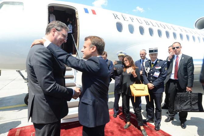 Predsednik Srbije Aleksandar Vučić ispraća predsednika Francuske Emanuela Makrona
