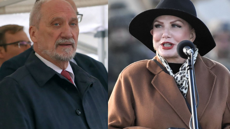 Antoni Macierewicz i Georgette Mosbacher