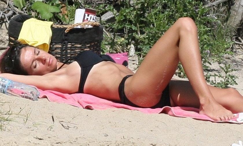 kaczyńska w bikini na plaży