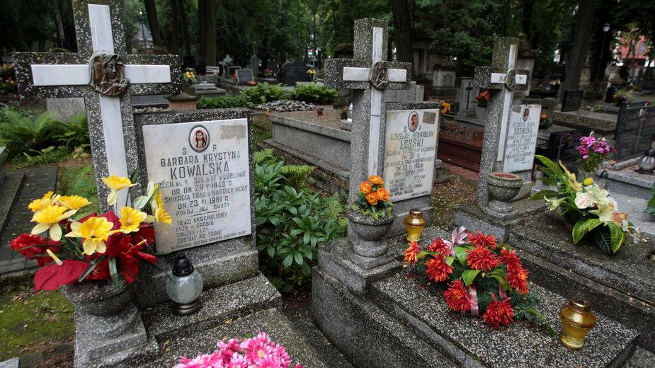 Cmentarz przy ul. Lipowej w Lublinie, gdzie pochowano tragicznie zmarłe dzieci