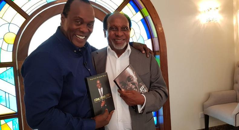 Reginald Mengi with Jeff Koinange