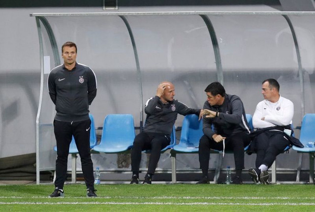 Aleksandar Stanojević na utakmici Metalac - Partizan