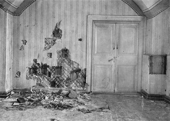 Podrumska prostorija u kući Ipatjeva u kojoj su streljani članovi carske porodice i njihove sluge