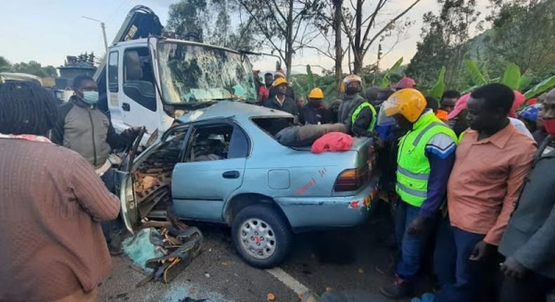 4 dead in grisly Road Accident along Machakos-Kitui road