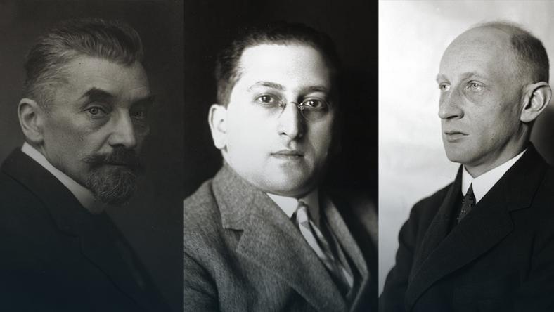 Od lewej: prof. Adam Krzyżanowski, prof. Ferdynand Zweig, prof. Adam Heydel