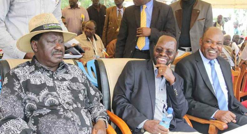 File image of Raila Odinga with Anyang Nyongo