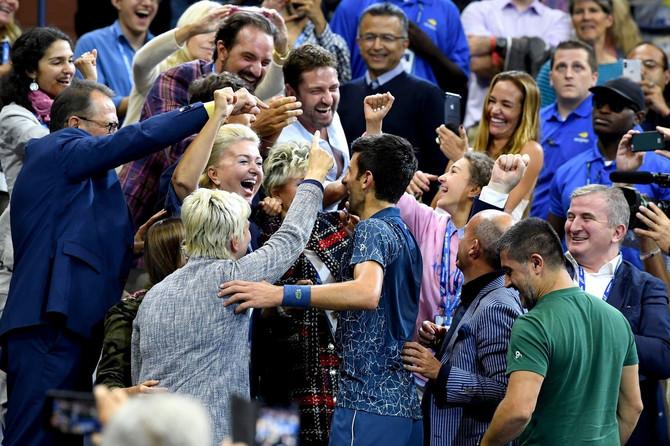 Ovako se slavi kad Novak Đoković pobeđuje: slavio je sa njim nakon osvajanja US Opena 2018. i akter naše priče