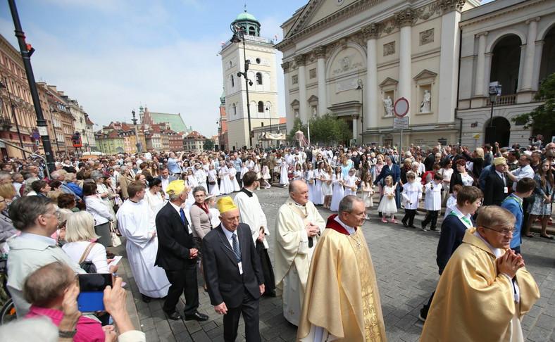 Uroczystości Bożego Ciała w Warszawie