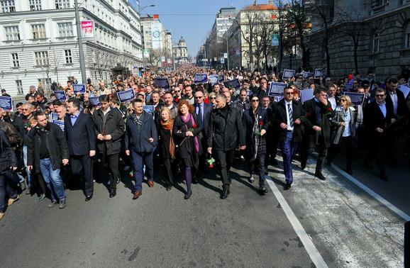 Organizatori procenjuju da je u šetnji učestvovalo između 15.000 i 20.000 ljudi