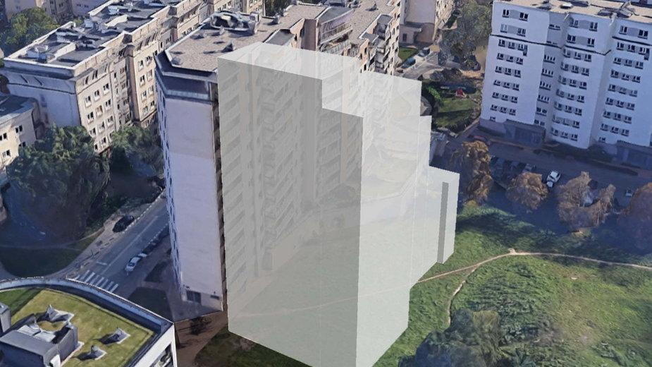Taki blok może stanąć 4 m od okien drugiego. To efekt błędu na mapie