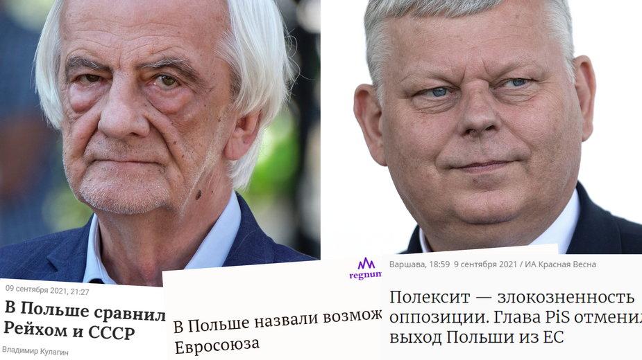 Rosyjskie media cytują wypowiedzi R. Terleckiego i M. Suskiego