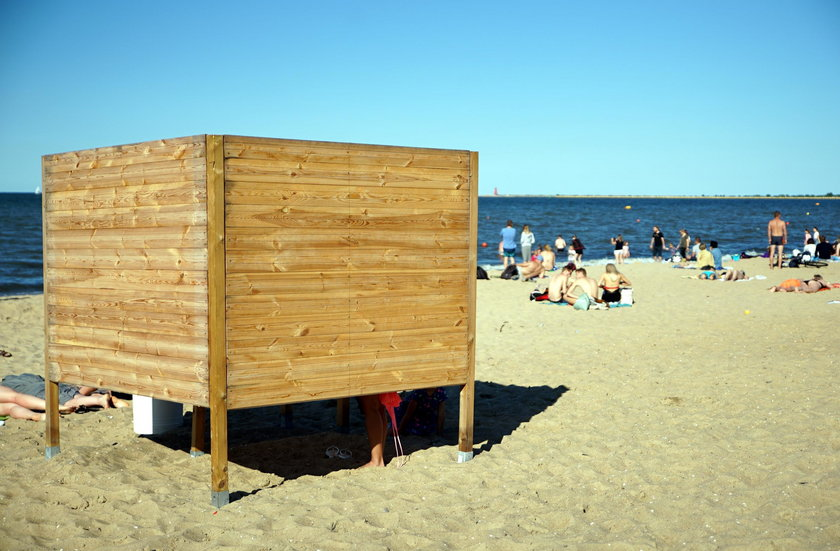 plaża w Brzeźnie