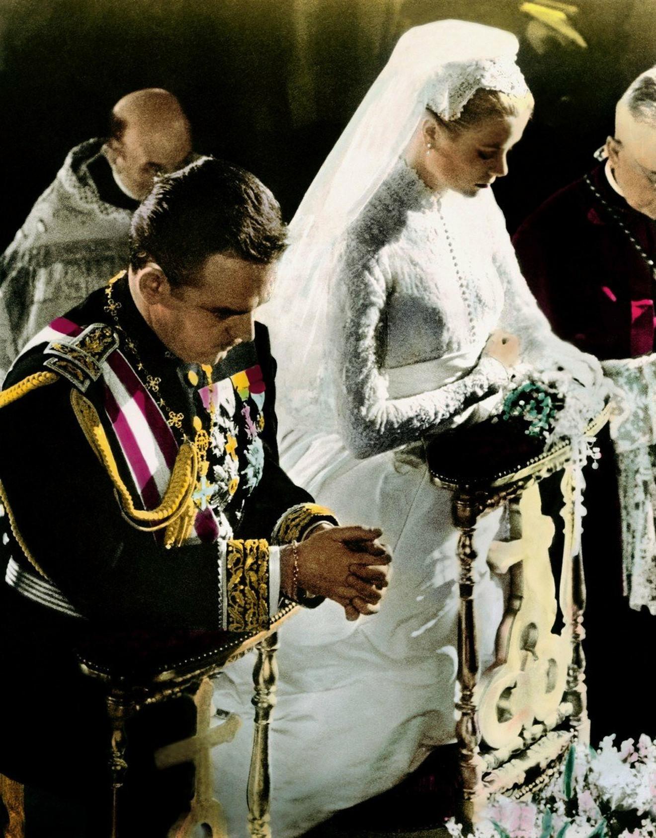 Grejs Keli crkveno venčanje