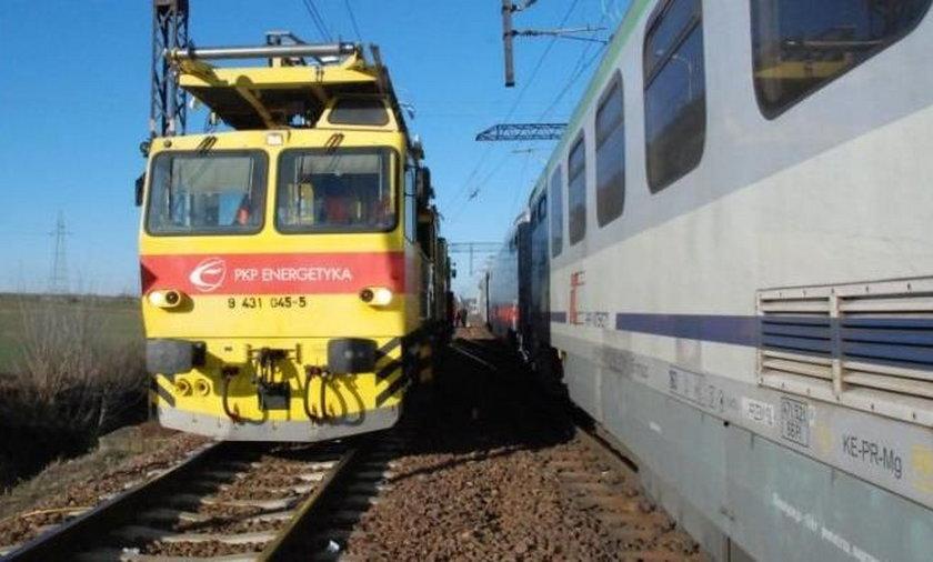 Pociąg techniczny omal nie zderzył się z pociągiem pasażerskim