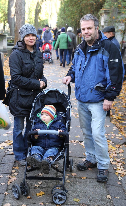 Jacek (52 l.) i Katarzyna (37 l.) Patzer z synkiem Alexandrem (2 l.) -