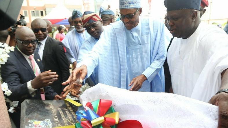 Here is what President Muhammadu Buhari said at the inauguration of Oshodi Transport Interchange, Airport road in Lagos [Twitter/@ChangeHasComee]