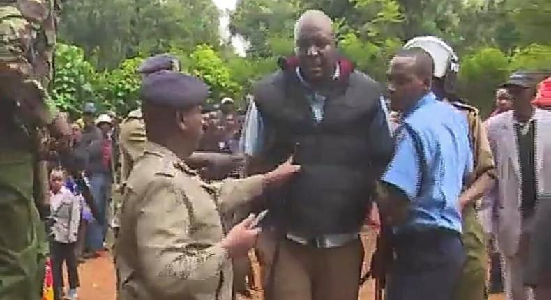 Police Police hunting for Nyeri Deputy Speaker Samuel Kariuki after he was caught beating up a man at William Ruto's event in Giakanja Nyeri