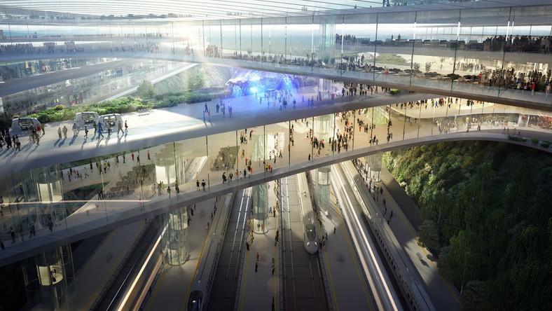 08 Terminal CPK. Koncepcja Zaha Hadid Architects