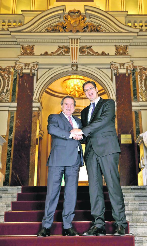 Aleksandar Vučić i Gerhard Šreder