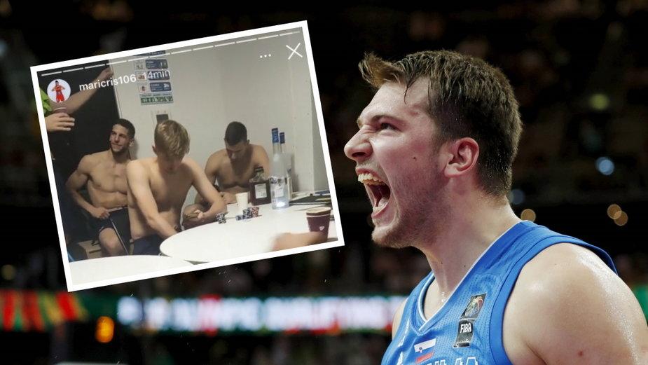 Słoweńscy koszykarze balowali przy alkoholu i złamali koronawirusowe obostrzenia podczas igrzysk w Tokio (Na zdjęciu głównym: Luka Doncic)