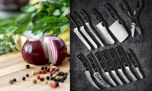 Set od 12 profesionalnih kuhinjskih noževa i jednih makaza