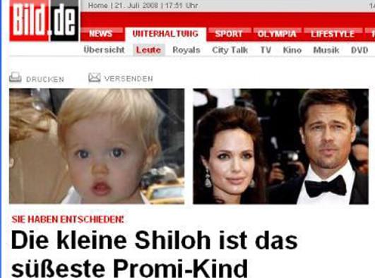 Shiloh Jolie - Pitt najsłodszym dzieckiem