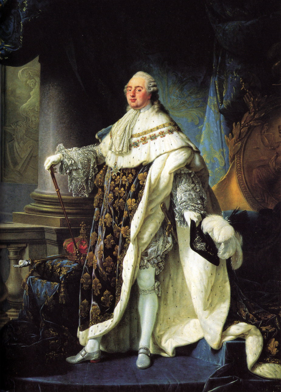 Ludwik XVI Burbon, obraz Antoine-François Calleta