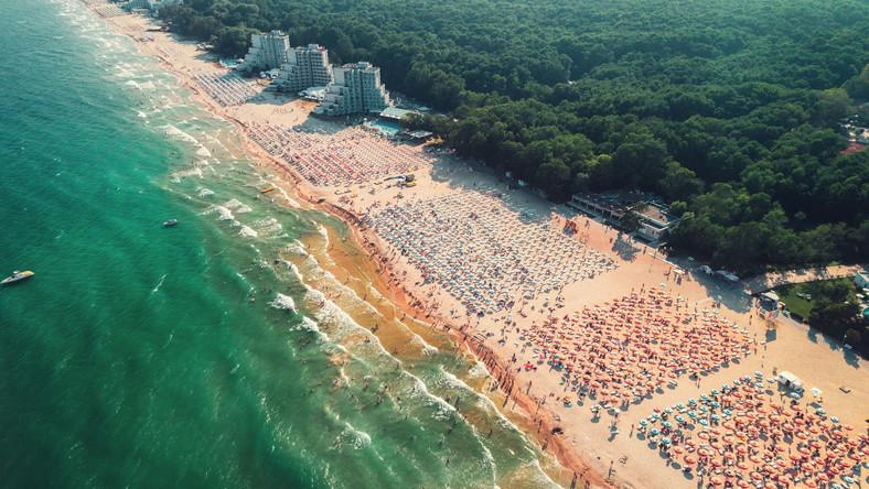 Albena, plaża, Bułgaria