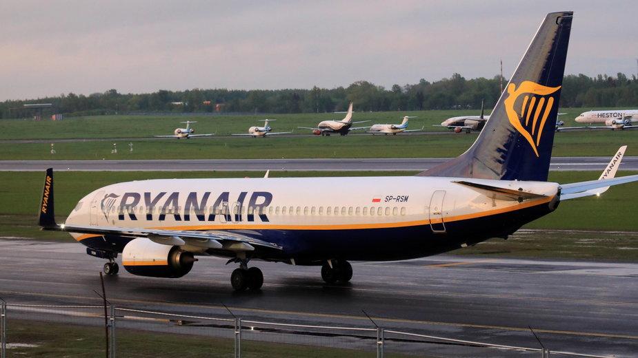 Samolot linii Ryanair, który został zmuszony do lądowania na Białorusi