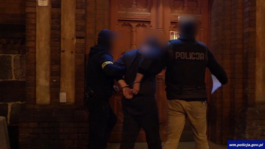 Jakub D. podejrzany o napad na kantor w Olsztynie