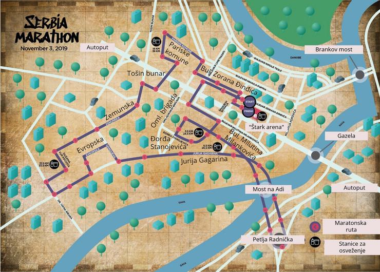 mapa maraton