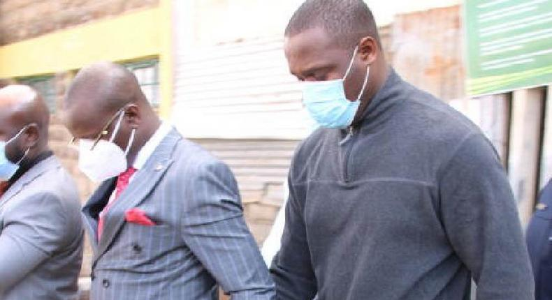 Chris Obure, suspect in Kevin Omwenga, during a past court appearance