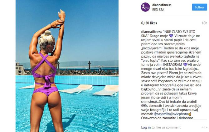 Diana Morić ne krije svoj realni izgled