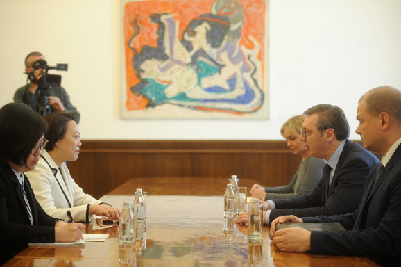 Zahvalnost predsedniku Siju: Vučić sa ambasadorkom Čen Bo