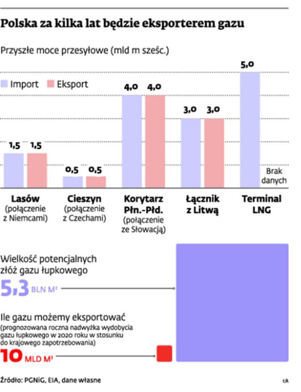Polska za kilka lat będzie eksporterem gazu