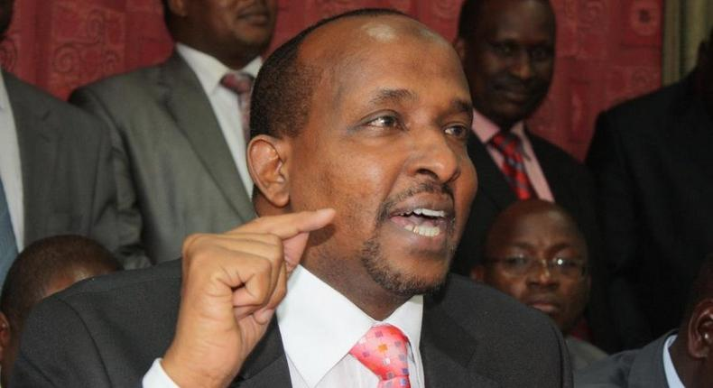 National Assembly Majority leader Aden Duale. He warned Jubilee leaders who have attacked Uhuru (Twitter)