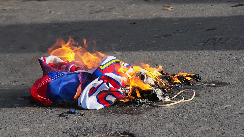Płonąca flaga