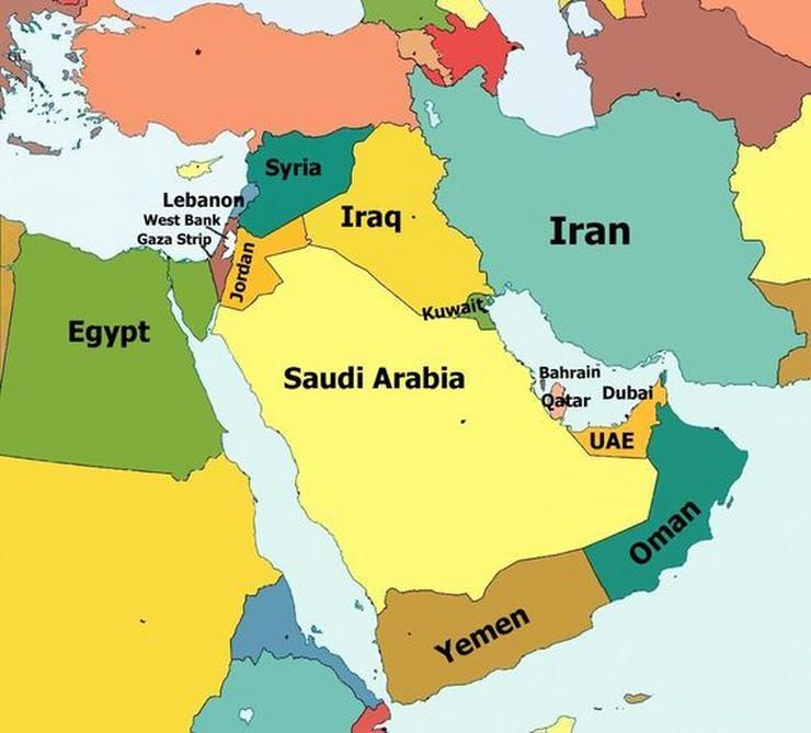 Mapa Katar, Persijski zaliv