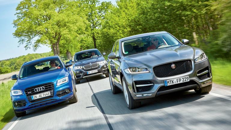 Audi SQ5 kontra BMW X4 35d i Jaguar F-Pace 30d - czy warto kupić SUV-a z mocnym dieslem?