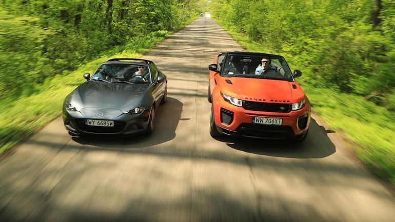 Mazda MX-5 RF i Range Rover Evoque Cabrio