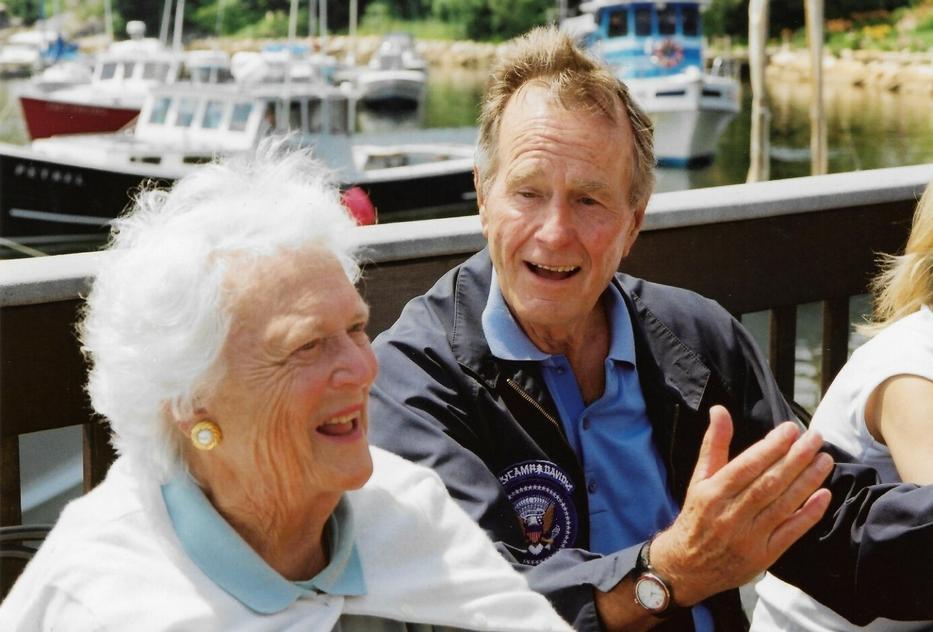 Barbara és George Bush, Walker's Point, 2001 /Forrás: Zolcer János archívuma