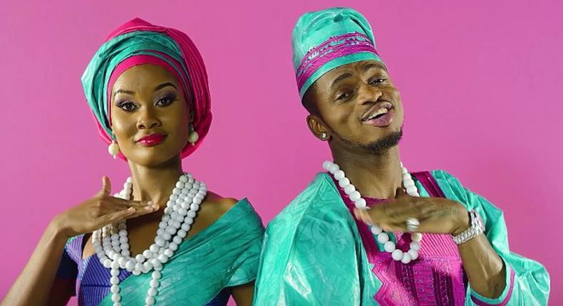 Hamisa Mobetto and Diamond Platnumz in the 'Salome' video