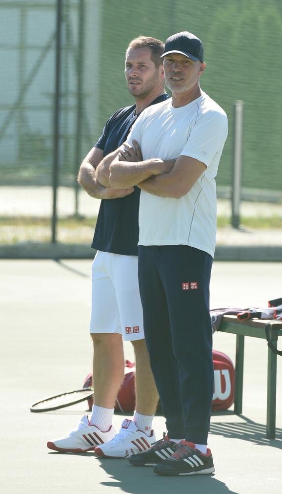 Miljan Amanović i Gebhard Fil-Grič na Đokovićevom treningu