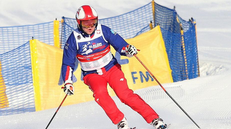 """""""12H Slalom Maraton Zakopane 2020"""". Andrzej Duda na stoku"""
