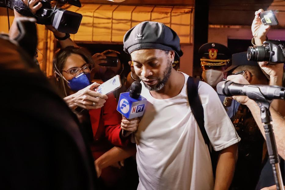 Ronaldinho /Fotó:MTI EPA Nathalia Aguilar